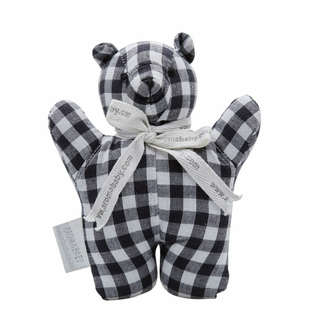 Aromababy Black White Rattle Bear