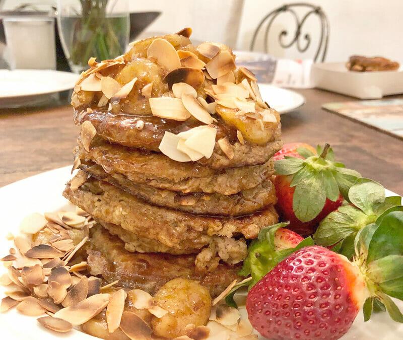 Catherine's Banana Oatmeal Pancakes